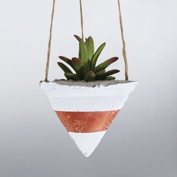Air Planter, Hanging Planter, Succulent Planter, Concrete Planter, Modern Planter, Geometric Planter, White Planter, Mini Planter, Bronze