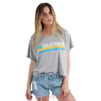 California Republic Vintage Stripe Flowy Crop Top