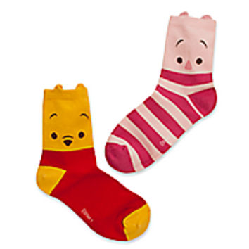 Winnie the Pooh and Piglet Socks for Women