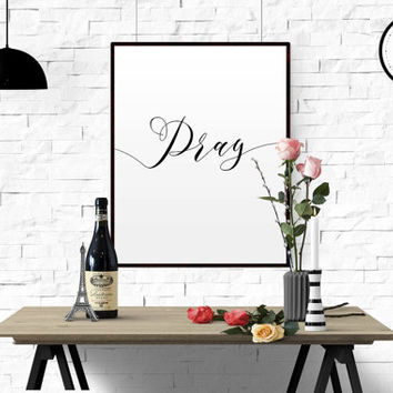 Printable Quote, Wall Art Decor For this child I Have Prayed 1 Samuel 1:27 MillionAyres PRAY Bible Verse HOPE Typography Print FAITH Poster