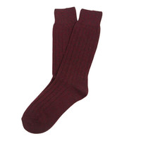 Lots Of Cash Cashmere Boot Sock Berry