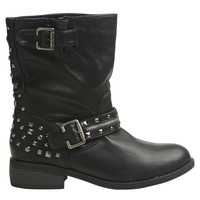Studded Moto Boot - WetSeal