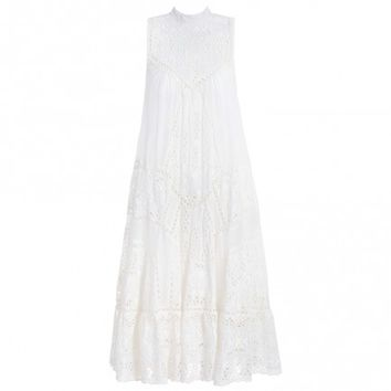 Porcelain Panelled Smock Dress - The Latest