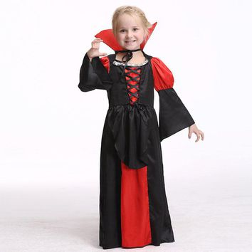 Girls Cosplay Dresses Halloween Vampire Clothing For Toddler Girl Baby Party Dress Children Costumes Kids Clothes