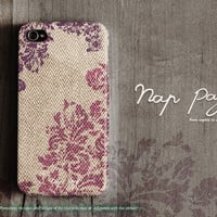 apple iphone case : abstract violet pattern