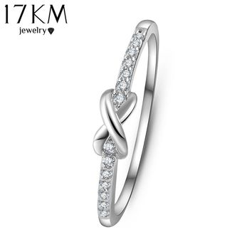 Gold Cross infinity Crystal Ring