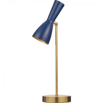 WORMHOLE TABLE LAMP - SAPPHIRE BLUE/GOLD