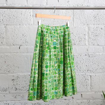 Vintage Geo-illustration A-line Skirt