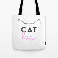 Cat Lady Tote Bag by A_CreativeHaven