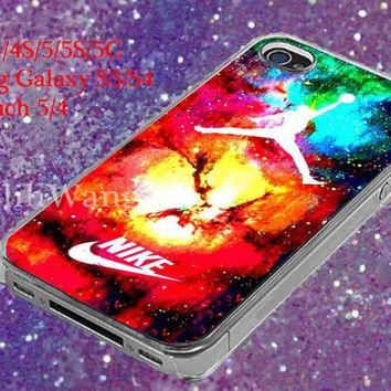 jordan nike galaxy Design Case for iPhone 4/4S/5/5S/5C, Samsung Galaxy S3/S4, Ipod Tou