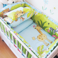 Comfortable 5 pcs/set Baby Crib Bedding Set,Nursery Baby Bed Bumper Cot Bedding Set for Girls Boys,Multi Colours Baby Bed Linens