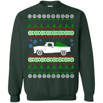 Chevy C10 Stepside Truck 1969 Ugly Christmas Sweater