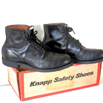 1972 Sears Steel Toe Motorcycle Boots with Original Box