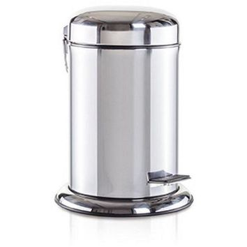 Round Pedal Wastebasket Trash Can for Bathroom, Kitchen, Office