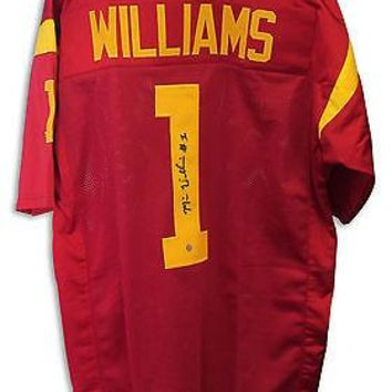 Mike Williams Autographed Red Jersey USC Trojans