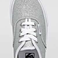 DNA Footwear - Kid's Authentic Sneaker - Silver Glitter by Vans