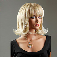 100% Japanese Kanekalon Synthetic Short Curly Wig(Ash Blonde)