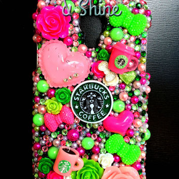 Starbucks Coffee Addict Samsung Galaxy S4 Kawaii Decoden Phone Case