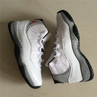 Air Jordan 11 Retro White/Gray Basketball Shoes