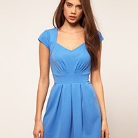 Paprika | Paprika Cap Sleeve Skater Dress at ASOS