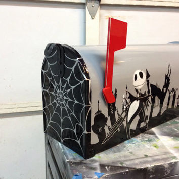 Nightmare Before Christmas Halloween Town Mailbox outdoor Decoration
