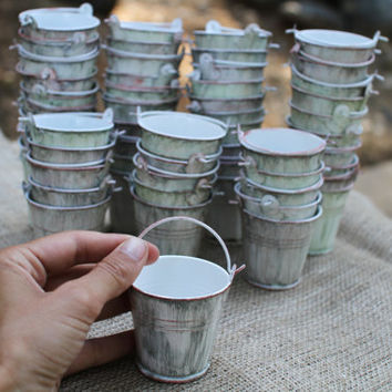 Mini Water Pails For Wedding Or Party From Thegypsybird On