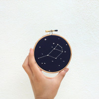 "Custom 4"" Constellation Hoop Art / pick your constellation"