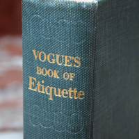 Vintage Vogue's Book of Etiquette, 1948 by Millicent Fenwick - Hardcover Coffee Table Book