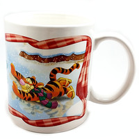 Winnie Pooh Ice Skating Coffee Mug 10oz Cup Eeyore Tigger Winter Disney k510