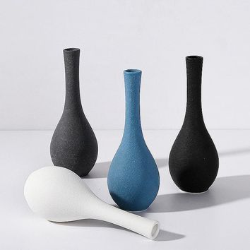 Japanese-style Brief Ceramic Wine Cabinet Flower Vases
