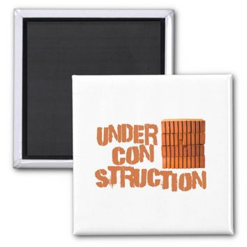 Bricks - Under Construction Magnet