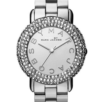 Women's MARC BY MARC JACOBS 'Marci' Mirror Dial Crystal Bezel Watch, 36mm