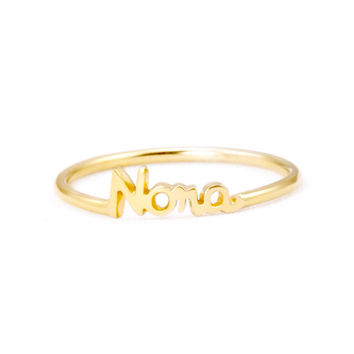 Handcrafted Personalized Name Ring
