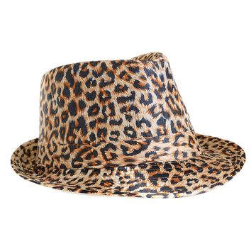 Classic Leopard Animal Print Fashion Unisex Fedora Hat