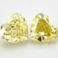 Sparkling 3.00 carat heart cut yellow canary loose diamond