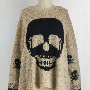 Steampunk Long Sleeve About Face Sweater by ModCloth