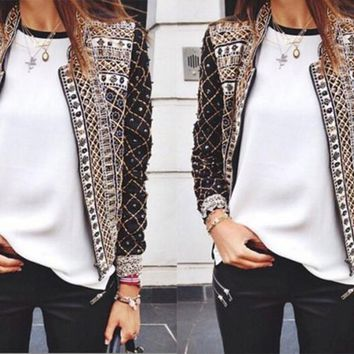 hot cute print coat