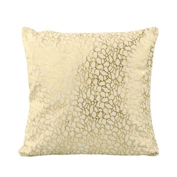 Daisy Pillow White And Gold White