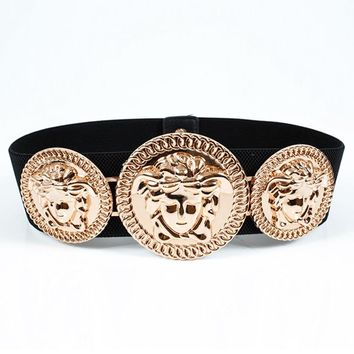 Versace Women's Elastic Wide Waist Belt Belt Belt Accessories