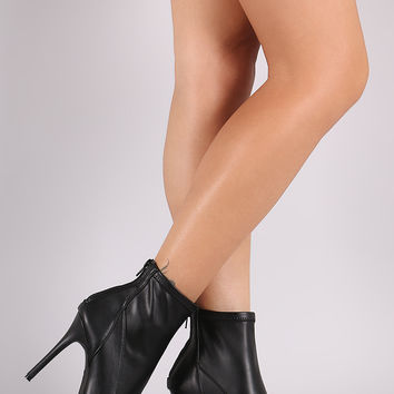 Anne Michelle Peep Toe Stiletto Booties