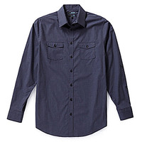 Murano Wardrobe Essentials Big and Tall Mini-Check Sportshirt - Rich B