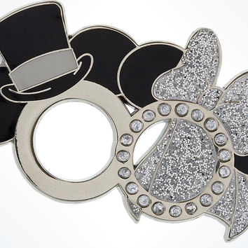 Disney Parks Mickey & Minnie Wedding Rings Pin New With Card