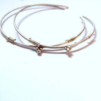 NEW!! SILVER Indian style hoop earrings with designs made of wire