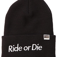Married to the Mob Beanie Ride or Die Black