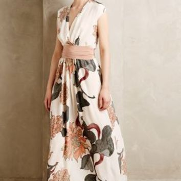 Forestbloom Silk Maxi Dress