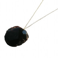 Large Amethyst Stone Necklace - Metrix Jewelry