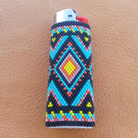 Beaded Bic Lighter Cover Native American Design