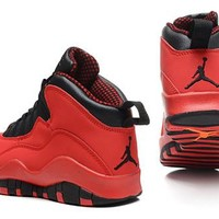 Cheap Air Jordan 10 X Retro Fushion Red Black Shoes