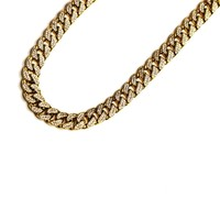 Gold Cuban Chain With Lab Diamonds
