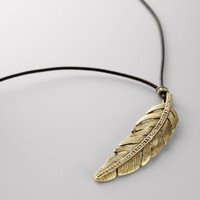 FOSSIL - Rare Feather Pendant Necklace